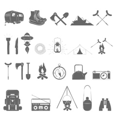 Outdoor recreation icon set vector