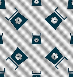 Kitchen scales icon sign seamless pattern with vector