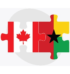 Canada and guyana flags vector