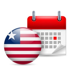 Icon of national day in liberia vector