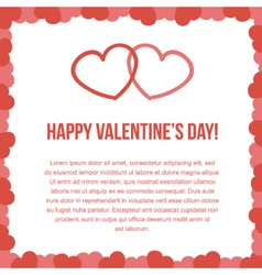 Valentines day card template vector
