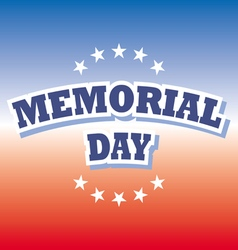 Us memorial day banner on red and blue background vector