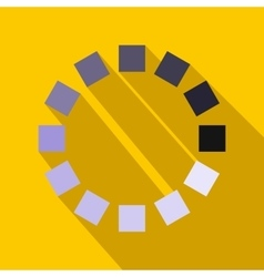 Loading circle sign icon in flat style vector