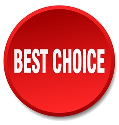 Best choice red round flat isolated push button vector