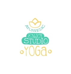 Yoga studio hand drawn promotion sign vector