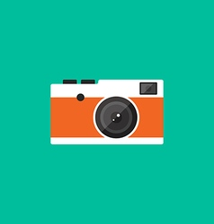 Camera retro vintage style flat design vector
