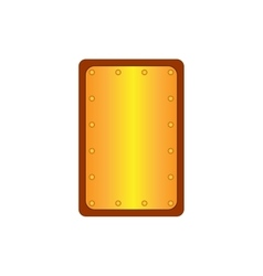 Sign shield gold rectangle 1305 vector