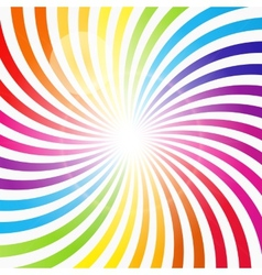 Abstract rainbow hypnotic background vector