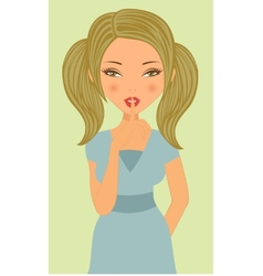 An of a Young beautiful woman vector image
