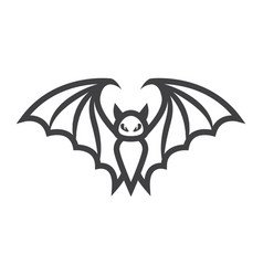 bat line icon halloween and scary animal sign vector image vector image