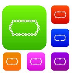 Bicycle chain set collection vector