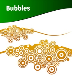 brown bubbles vector image
