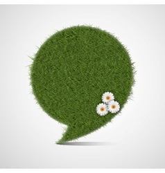 Bubble for speech made of grass vector image vector image