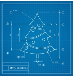 Christmas blueprints vector image