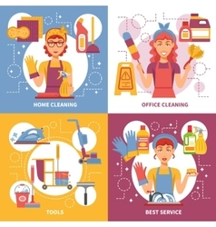 Cleaning service design concept vector