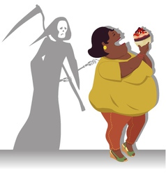 Danger of obesity vector image