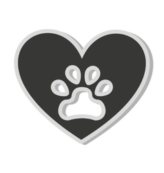 dog footprint isolated icon vector image