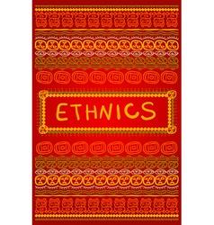 Ethnic background vector