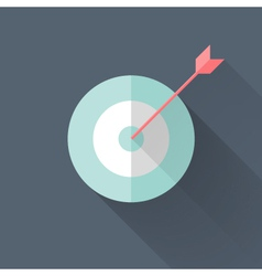 Flat target icon vector