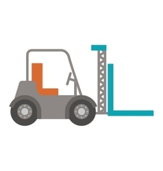 Forklift truck with forks icon vector