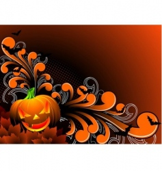 halloween theme vector image vector image