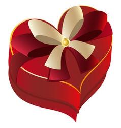 Heart Shaped Box vector image