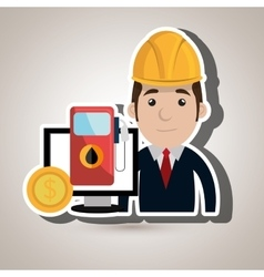 man and industry isolated icon design vector image