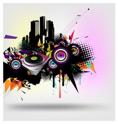 Music urban vector image vector image