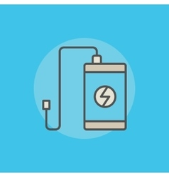 Portable power bank icon vector