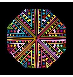 Round ornament design ethnic mandala vector image vector image