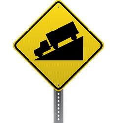 Steep downgrade sign vector