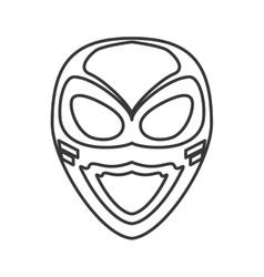 superhero superman mask design vector image