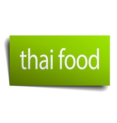 Thai food square paper sign isolated on white vector