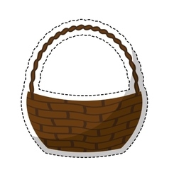 Wicker basket icon vector