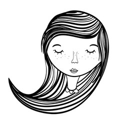 Woman mother with eyes closed vector