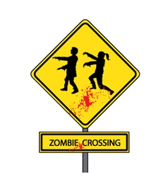 zombie crossing vector image