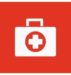 The medicine chest icon ambulance symbol flat vector