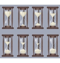 Sandglass icons animation set time hourglass vector