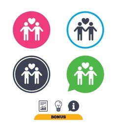 Couple sign icon male love male gays vector