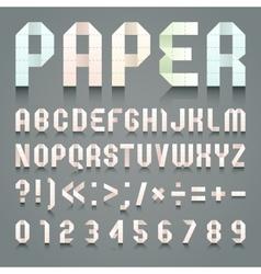 Alphabet folded paper vector image