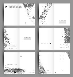 Set of six backgrounds created from simple vector