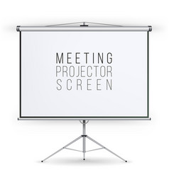 Meeting projector screen  presentation vector