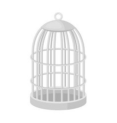 metal cage for birdspet shop single icon in black vector image