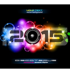 2015 Happy New Year Party background vector image vector image