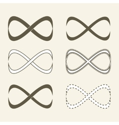 Set of limitless icons infinity symbol vector