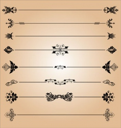 elements of decoration design vector image