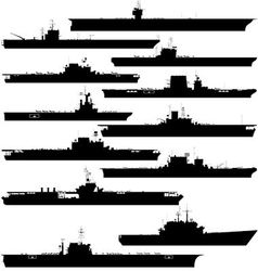 Aircraft carrier vector image