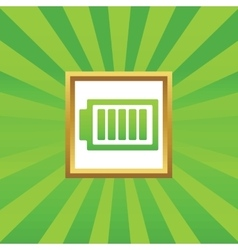 Charged battery picture icon vector