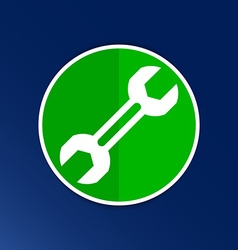 Wrench tools icon isolated button logo symbol vector