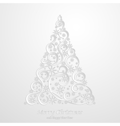 Absrtact floral christmas tree background vector